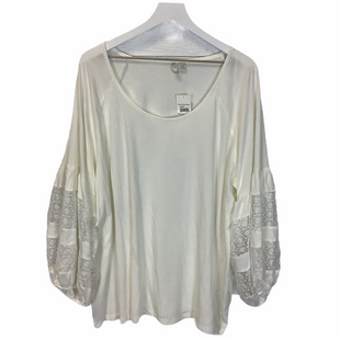 Primary Photo - BRAND: CATO STYLE: TOP LONG SLEEVE COLOR: WHITE SIZE: 22 SKU: 210-210142-2582