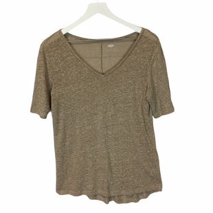 Primary Photo - BRAND: OLD NAVY STYLE: TOP SHORT SLEEVE COLOR: BROWN SIZE: S SKU: 210-210129-4636