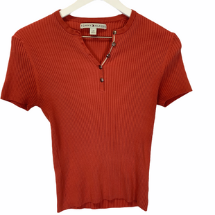 Primary Photo - BRAND: TOMMY HILFIGER STYLE: TOP SHORT SLEEVE COLOR: ORANGE SIZE: L SKU: 210-210106-30773