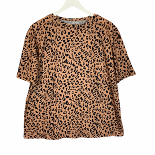 Primary Photo - BRAND:    CLOTHES MENTOR STYLE: TOP SHORT SLEEVE COLOR: ANIMAL PRINT SIZE: M SKU: 210-210145-3250