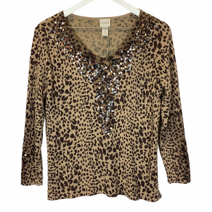 Primary Photo - BRAND: CHICOS STYLE: TOP LONG SLEEVE COLOR: ANIMAL PRINT SIZE: M SKU: 210-210106-26812
