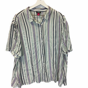Primary Photo - BRAND: VINCE CAMUTO STYLE: TOP SHORT SLEEVE COLOR: STRIPED SIZE: 3X SKU: 210-210106-27823
