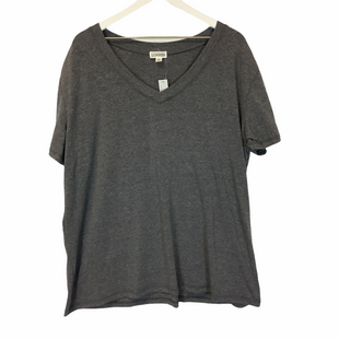 Primary Photo - BRAND:    CLOTHES MENTOR STYLE: TOP SHORT SLEEVE COLOR: GREY SIZE: 3X OTHER INFO: LOANNA - SKU: 210-210157-857