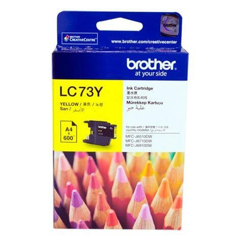 BROTHER LC73 YELLOW INK CARTRIDGE