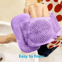 Load image into Gallery viewer, Magic Silicone Brush Bath Towel