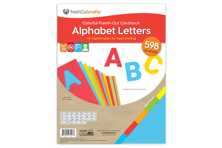 Alphabet Letters (1.5 inch) – 598 Punch-Out Letters