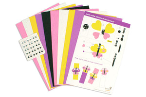 Butterfly Bookmarks Punch-Out Paper Craft Kit – Makes 12 Bookmarks