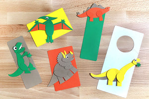 Mighty Dinosaurs Punch-Out Paper Craft Kit – Makes 5 Characters