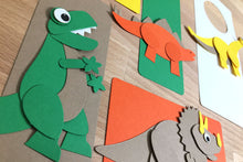 Load image into Gallery viewer, Mighty Dinosaurs Punch-Out Paper Craft Kit – Makes 5 Characters