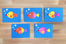 Load image into Gallery viewer, Love-Fish Thank You Card Kit – Makes 5 Cards