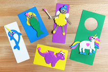 Load image into Gallery viewer, Magical Friends Punch-Out Paper Craft Kit – Makes 5 Characters