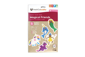 Magical Friends Punch-Out Paper Craft Kit – Makes 5 Characters