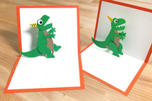 Load image into Gallery viewer, T-Rex Pop-Up Card Kit – Makes 2 Pop-Up Cards