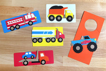 Load image into Gallery viewer, Truck Zone Punch-Out Paper Craft Kit – Makes 5 Trucks