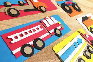 Truck Zone Punch-Out Paper Craft Kit – Makes 5 Trucks