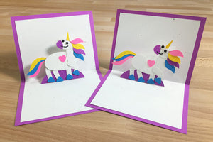 Unicorn Pop-Up Card Kit – Makes 2 Pop-Up Cards