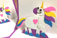 Load image into Gallery viewer, Unicorn Pop-Up Card Kit – Makes 2 Pop-Up Cards