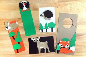 Woodland Creatures Punch-Out Paper Craft Kit – Makes 5 Characters