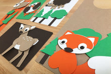 Load image into Gallery viewer, Woodland Creatures Punch-Out Paper Craft Kit – Makes 5 Characters
