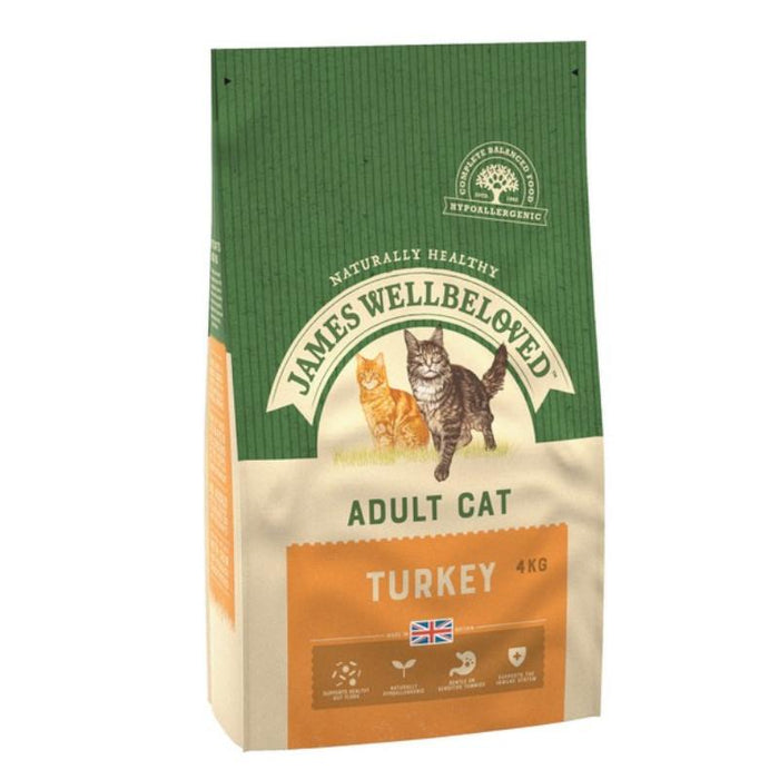 James Wellbeloved Cat Food Adult Turkey and Rice 4kg
