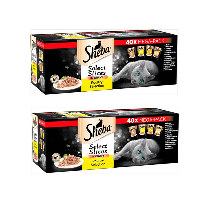 Sheba Select Slices Poultry Collection in Gravy 80 x 85g