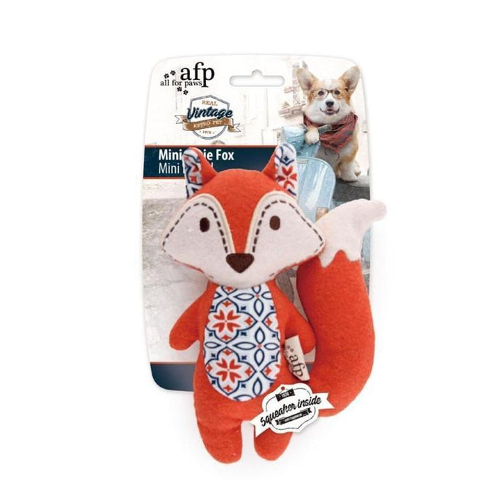 All For Paws Vintage Dog Toy Cutie Fox
