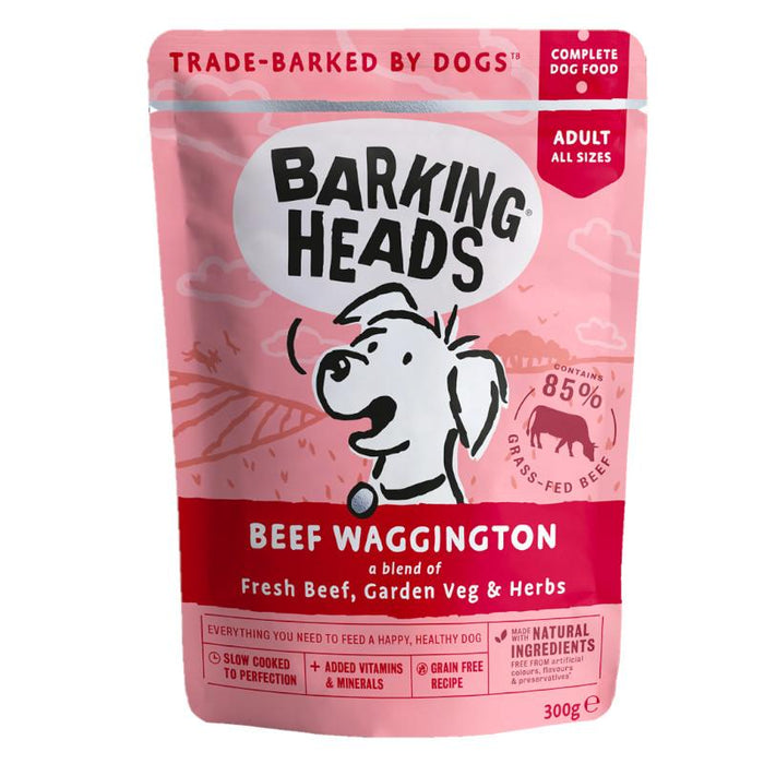 Barking Heads Beef Waggington Complete Dog Food 300g