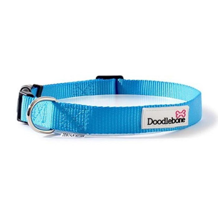 Doodlebone Bold Nylon Collar Cyan Various Sizes