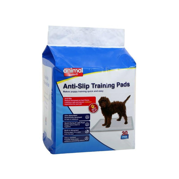 Animal Instincts Anti-Slip Dog Training Pads 60X60Cm Various Pack Sizes
