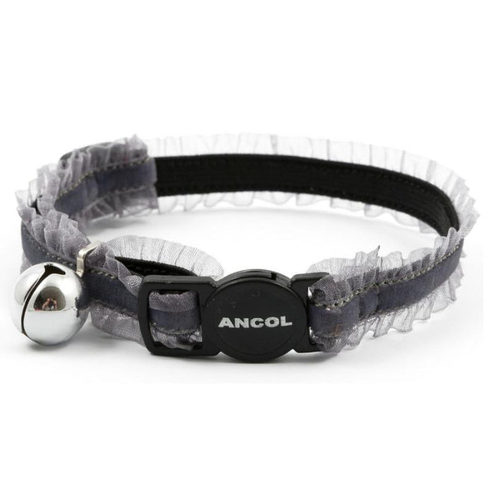 Ancol Velvet Frills Cat Collar Various Colours