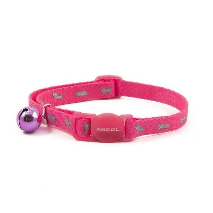 Ancol Neon Safety Small Cat Collar Various Colours