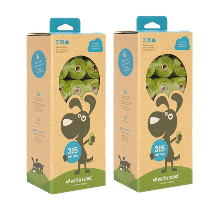 Twin Pack Earth Rated Poop Bags 315 Lavender Scented Or Unscented Bags