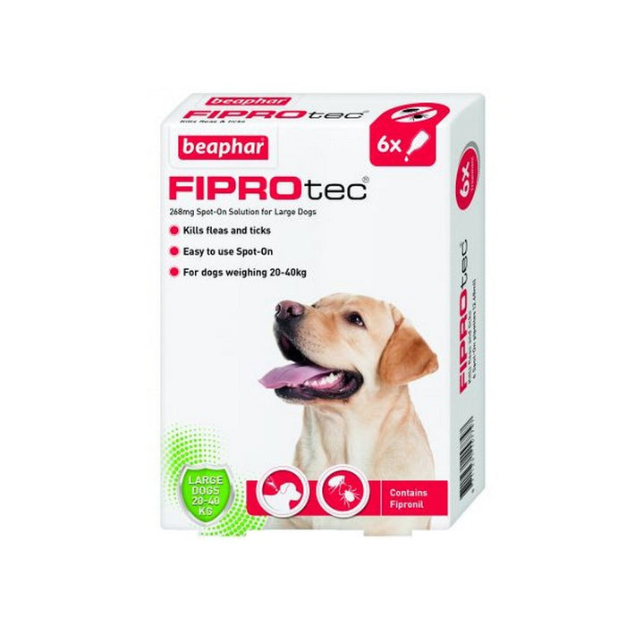 Beaphar Fiprotec Spot On Large Dog 6 Pipettes