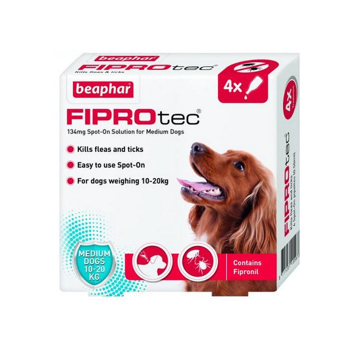 Beaphar Fiprotec Spot On Medium Dog 4 Pipettes