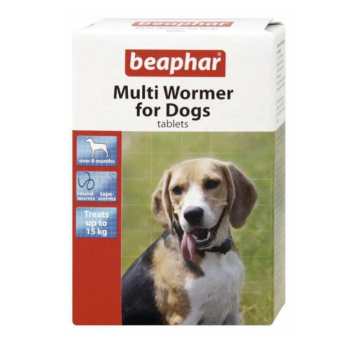 Beaphar Dog Multi Wormer Round & Tape Worm Treatment Pack 12 Tablets