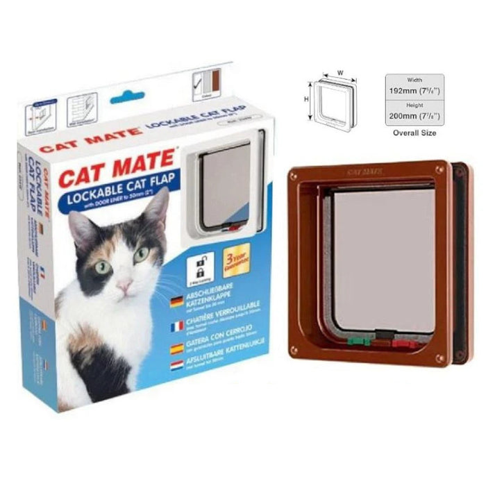 Cat Mate 2 Way Locking Door Flap & Liner Brown 234W 234B