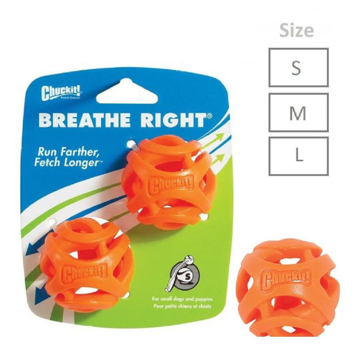 Chuckit Breathe Right Fetch Ball Various Sizes