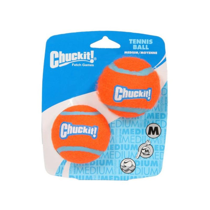 Chuckit Tennis Ball Medium 6.5cm 2 Pack