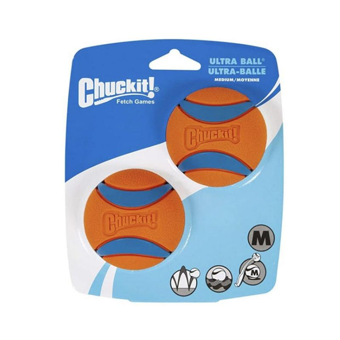 Chuckit Ultra Durable High Bounce Dog Ball Launcher Compatible 2 Pack Medium