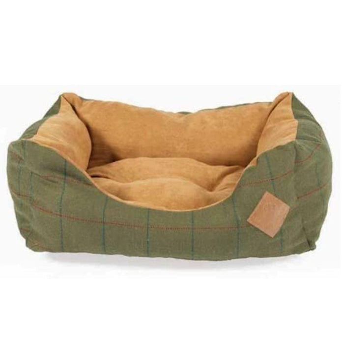 Danish Design Snuggle Dog Bed Green Tweed Various Sizes
