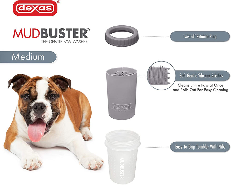 Dexas Mud Buster Dog Paw Brush Cleaner Various Colours And Sizes