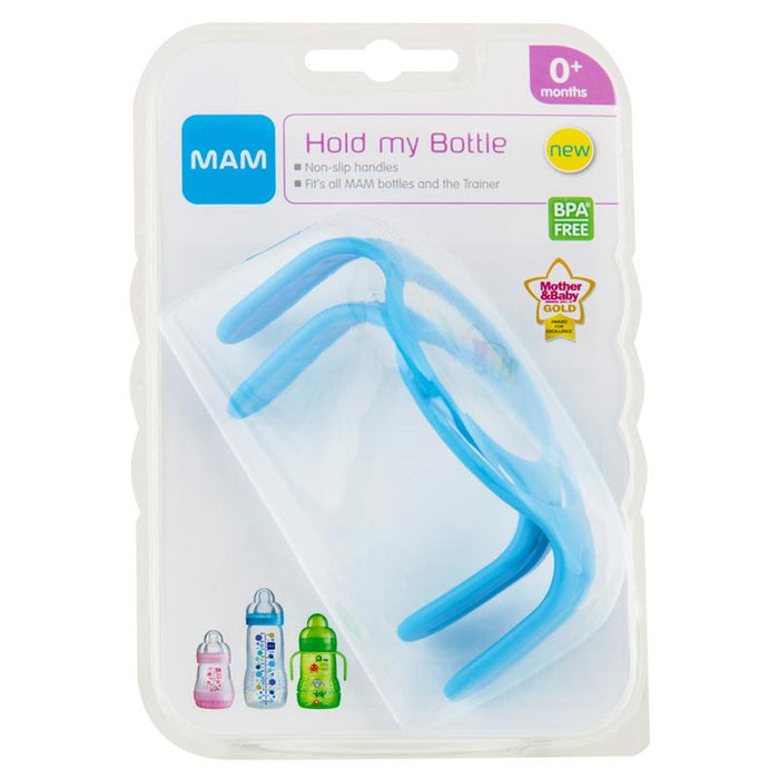 Mam Hold My Bottle Handles 2 Pack  Pink Or Blue