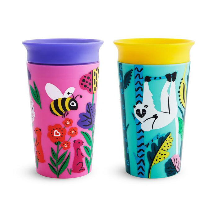 Munchkin Miracle 360 Sippy Cup Wild Love 266ml 2 Pack
