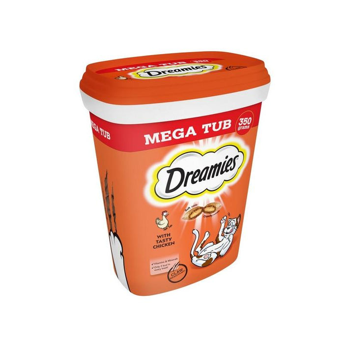 Dreamies Cat Treats With Chicken Megatub 2 x 350g