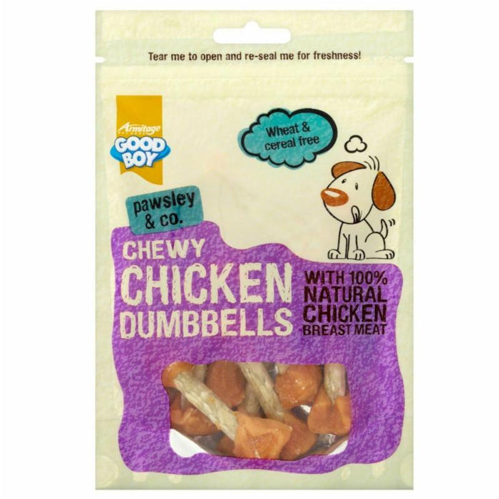 Good Boy Pawsley & Co Chewy Chicken Dumbells 100G