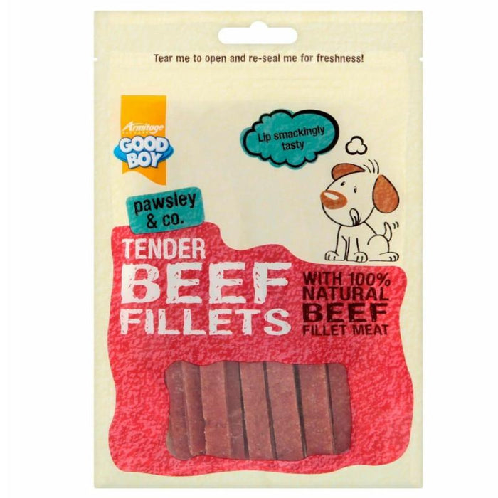 Good Boy Pawsley & Co Tender Beef Fillets 90G