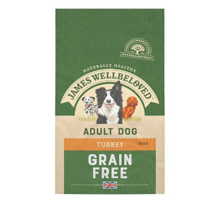 James Wellbeloved Turkey and Veg Adult Grain Free 10kg