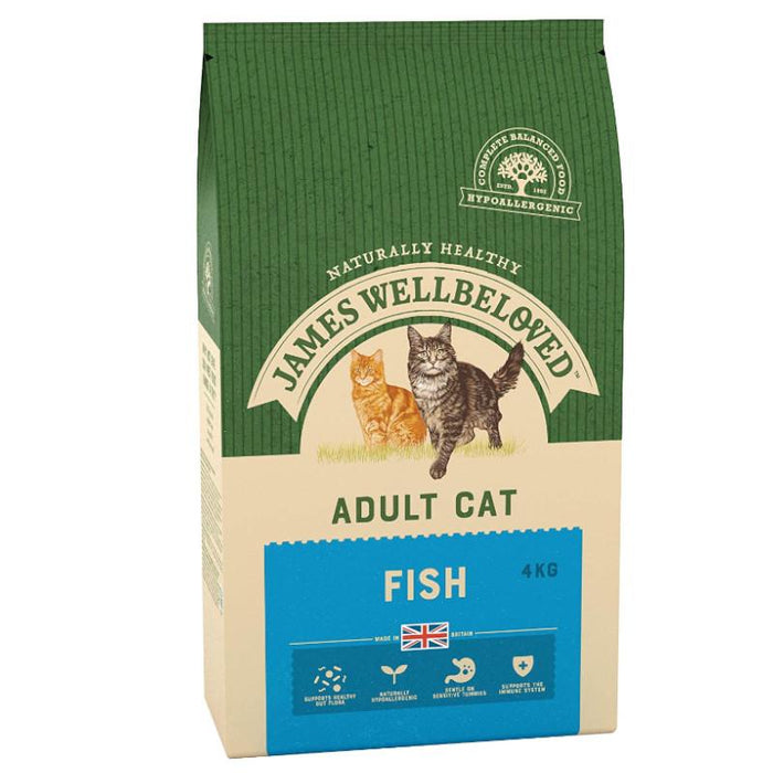 James Wellbeloved Complete Dry Adult Cat Food Fish and Rice 4 kg