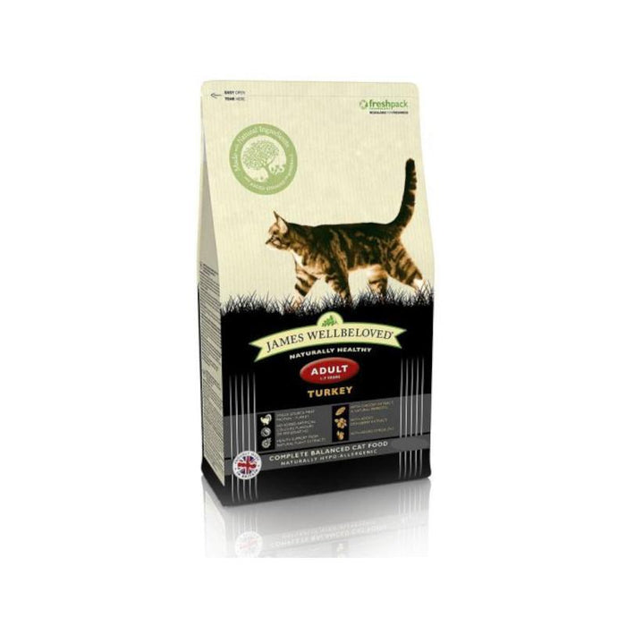 James Wellbeloved Complete Dry Adult Cat Food Turkey and Rice 1.5kg