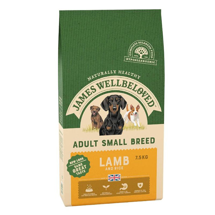 James Wellbeloved Complete Dry Adult Small Breed Dog Food Turkey and Rice 7.5 kg